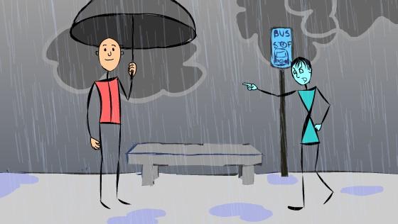 stolen umbrella