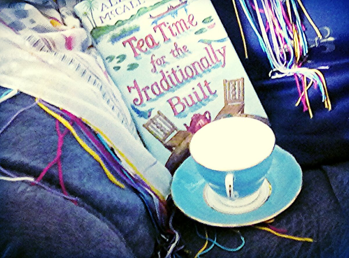 From my bookcase: Tea Time for the Traditionally Built: Alexander McCall Smith